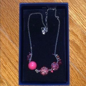 Authentic Pink Swarovski necklace NWT in box